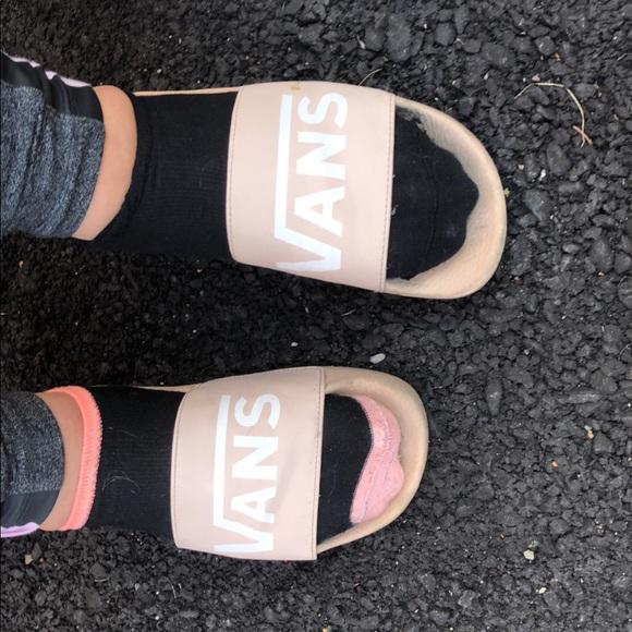 Vans Shoes | Slides Pink | Poshmark